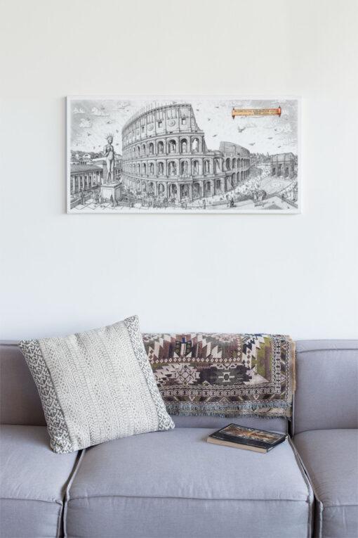 Colossuem Rome Artwork Canvas Print