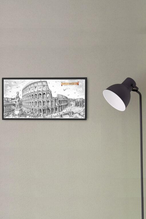 Colossuem Rome Artwork Framed Print