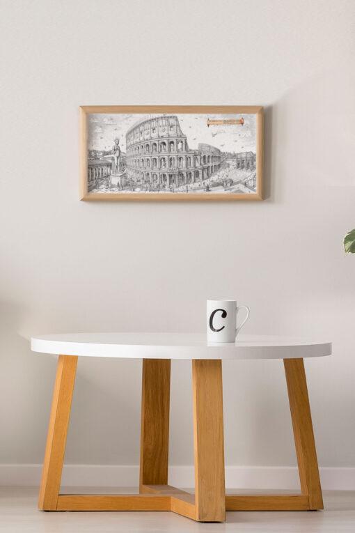 Colossuem Rome Art Framed Print