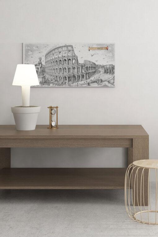 Colossuem Rome Art Canvas Print
