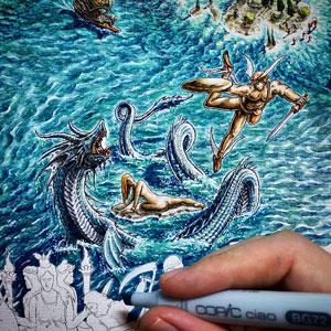 Greek monster artwork