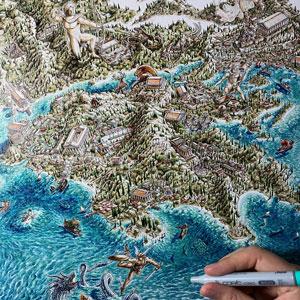 Greek Map artwork