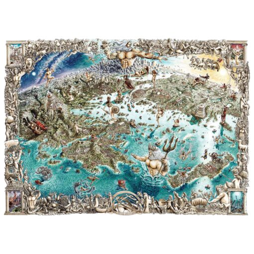 A Greek Odyssey - map of GODS AND GODDESSES, HEROES AND MONSTERS