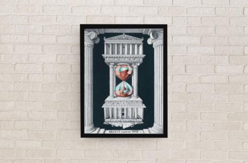 Greece through time Artwork Print