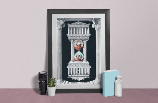 Greece through time Artwork Printed & Framed