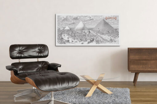 Pyramids of Time Artwork Canvas Print