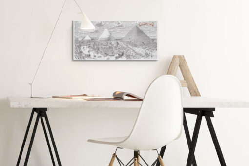 Pyramids of Time Artwork Print on Canvas