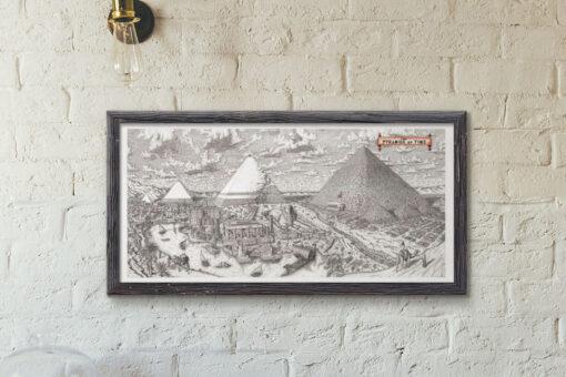 Pyramids of Time Artwork Framed Print