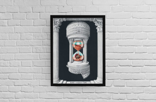 Rome through time Artwork Printed & Framed
