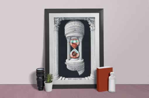 Rome through time Artwork Print