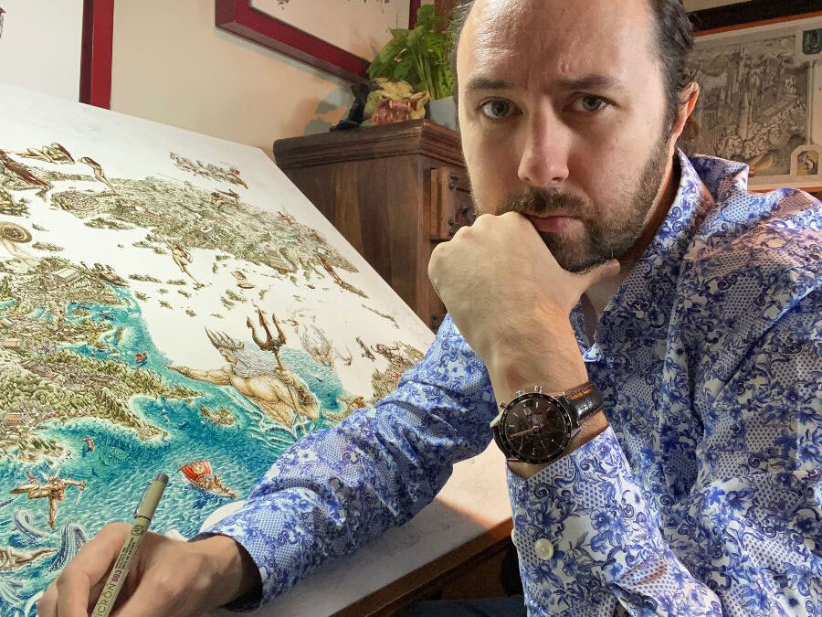 Jeff Murray greek mythology artwork map
