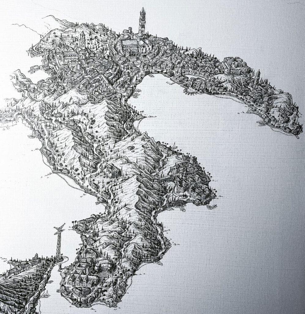 city italy art drawing