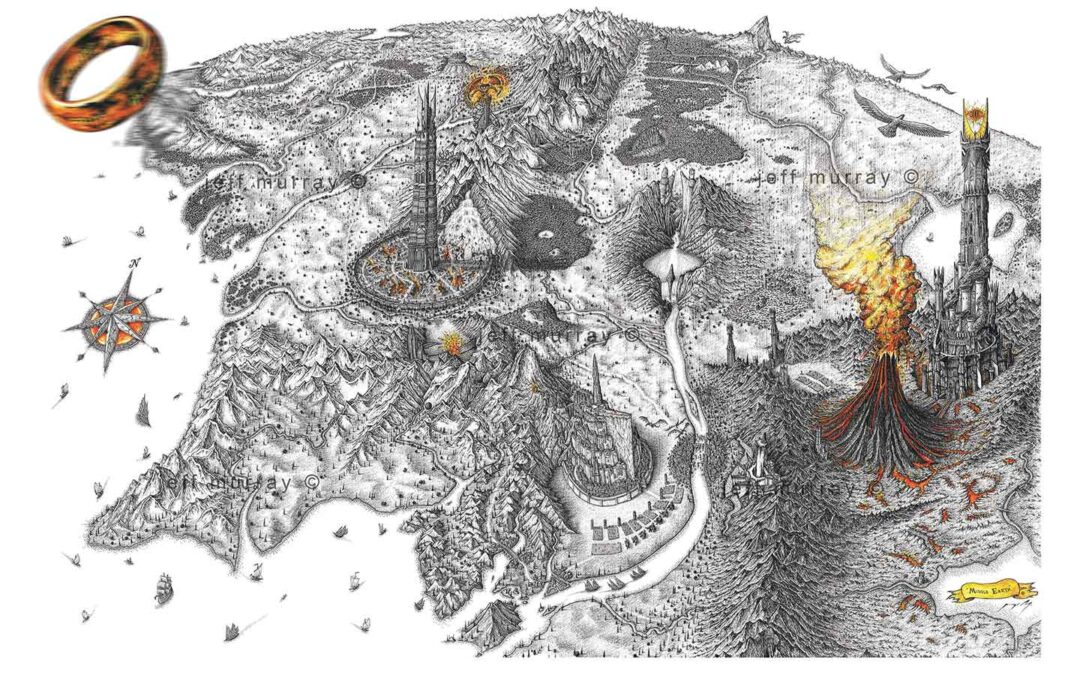 Middle Earth Map Artwork Prints now available