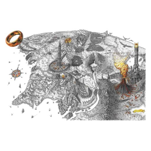 Middle Earth Map prints