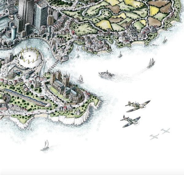 map artwork prints