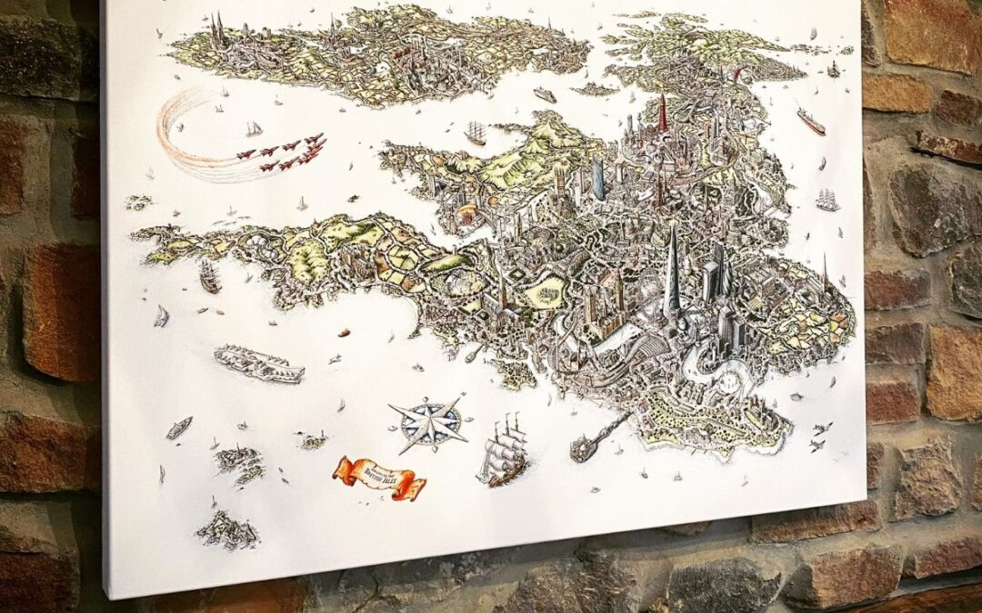 THE CITY OF BRITISH ISLES LIMITED PRINTS AVAILABLE
