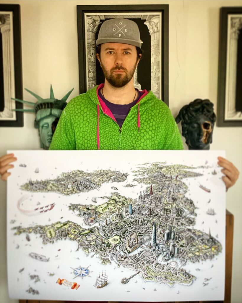 limited edition artwork map prints