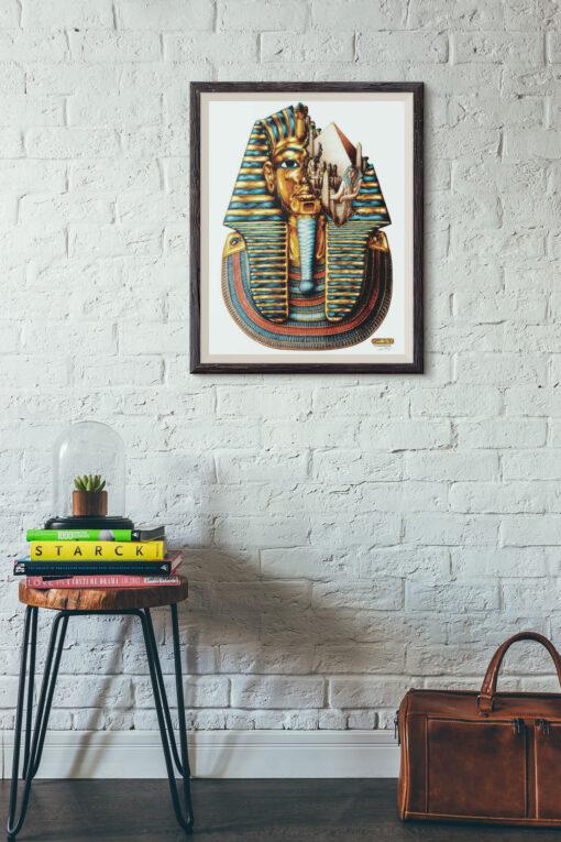 Tutankhamum art print framed