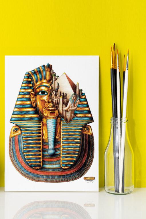 Tutankhamum artwork on canvas