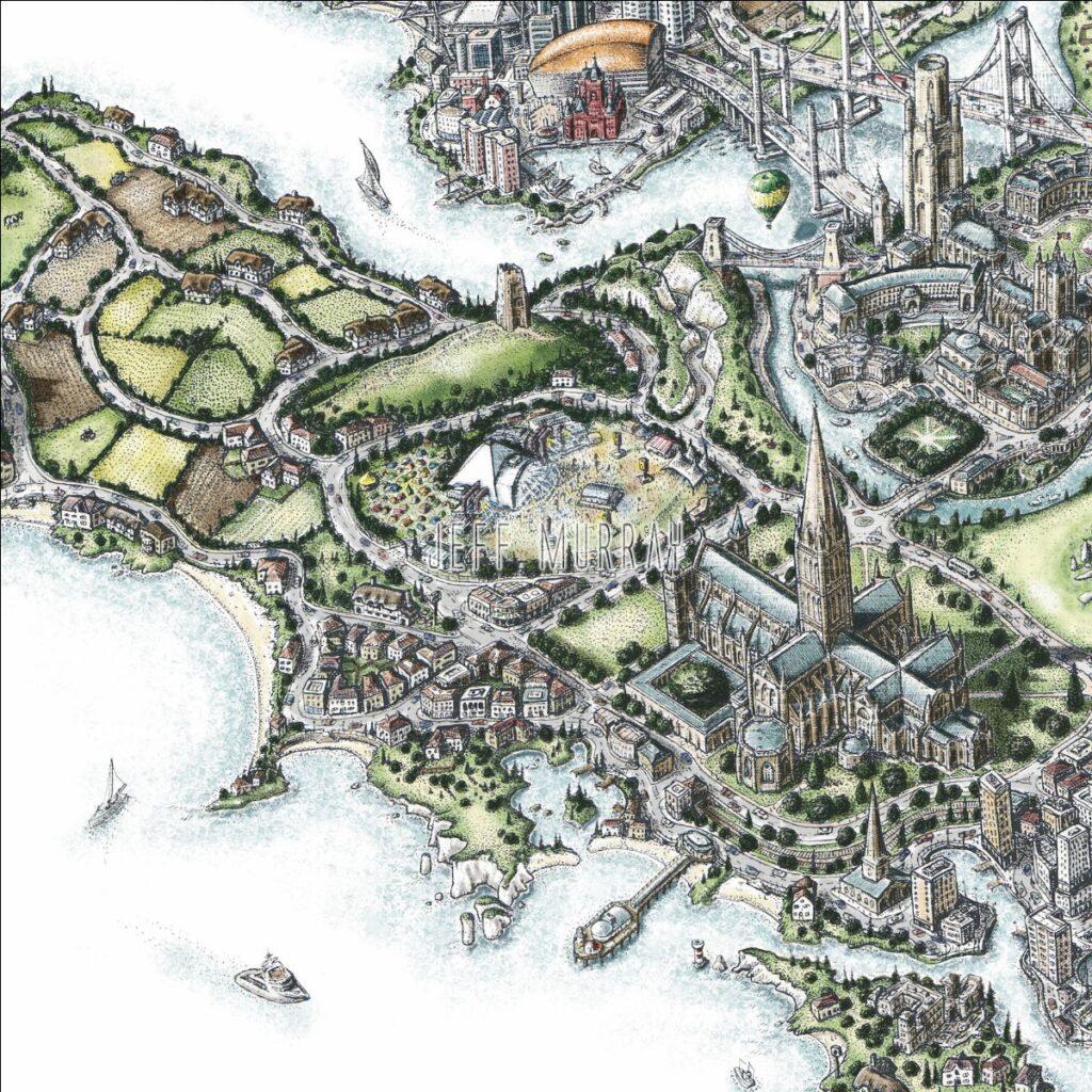 Artwork of the British Isle